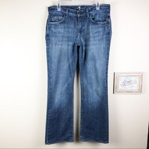 7 For All Mankind Bootcut Denim Jeans 32 x 30 1/4